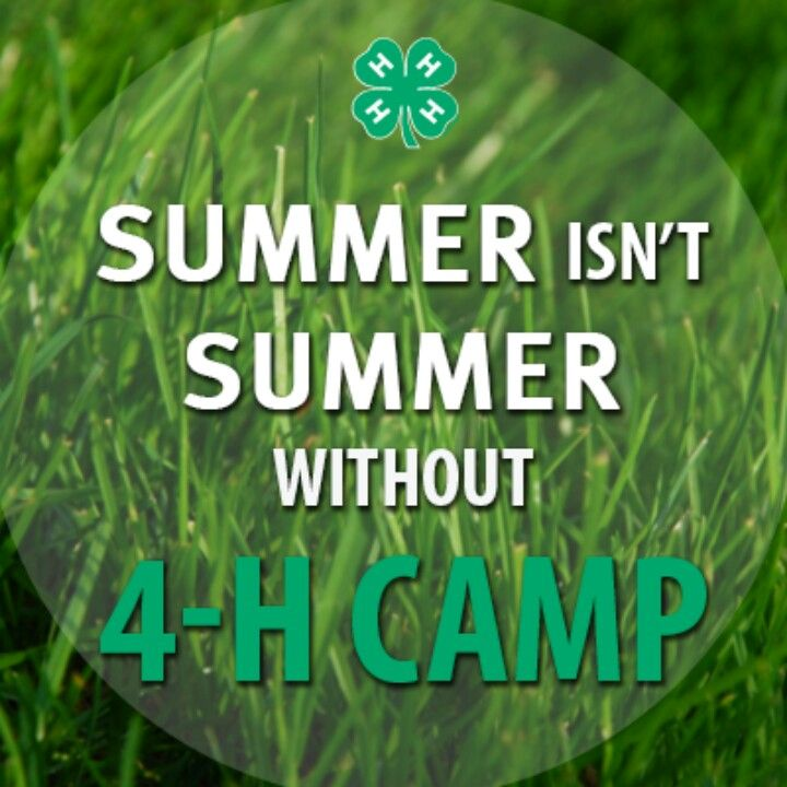 Summer isn't summer without 4-H Camp Poster